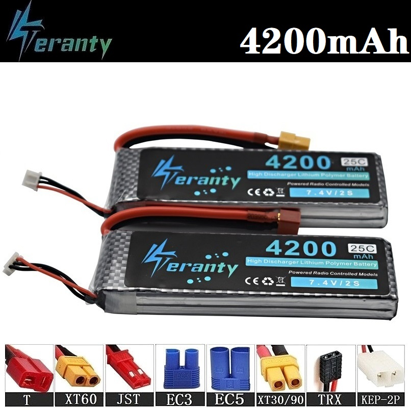 100% <font><b>4200mAh</b></font> 2s 3s 4s <font><b>3.7v</b></font> 7.4v 11.1v 14.8v Rechargeable <font><b>Battery</b></font> For RC Drone Car Robot Boat toy 11.1v Lipo <font><b>Battery</b></font> 22.2v 4200ma image