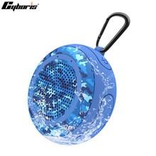 Cyboris su yüzen IPX7 su geçirmez 5W açık Bluetooth hoparlör TWS yüzme taşınabilir Mini hoparlörler kablosuz mikrofon ile/TF/aux