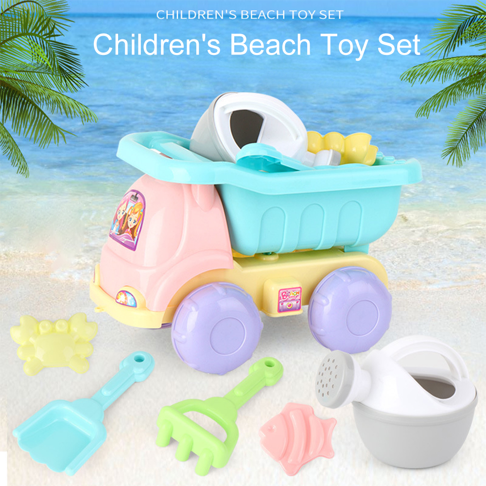 Beach Toys For Kids 11pcs Baby Beach Game Toy Children Sandbox Set Kit Summer Outdoor Toys For Beach Play Sand Water Play Cart A