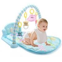 3 en 1 bébé tapis de jeu bébé Gym jouets doux éclairage hochets jouets musicaux bébés jouets éducatifs jouer Piano Gym bébé ramper tapis