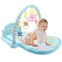 3 em 1 Bebê Esteira do Jogo Do Bebê Ginásio Brinquedos Iluminação Suave Chocalhos Brinquedos Musicais Bebês Brinquedos Educativos Jogar Ginásio de Piano bebê Engatinhando Tapete