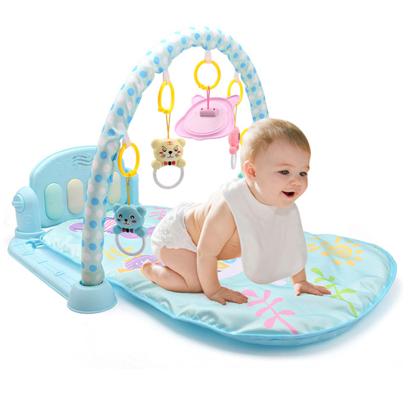 3 In 1 Baby Play Mat Baby Gym Toys Soft Lighting Rattles Musical Toys Babies Educational Toys Play Piano Gym Baby Crawling Mat