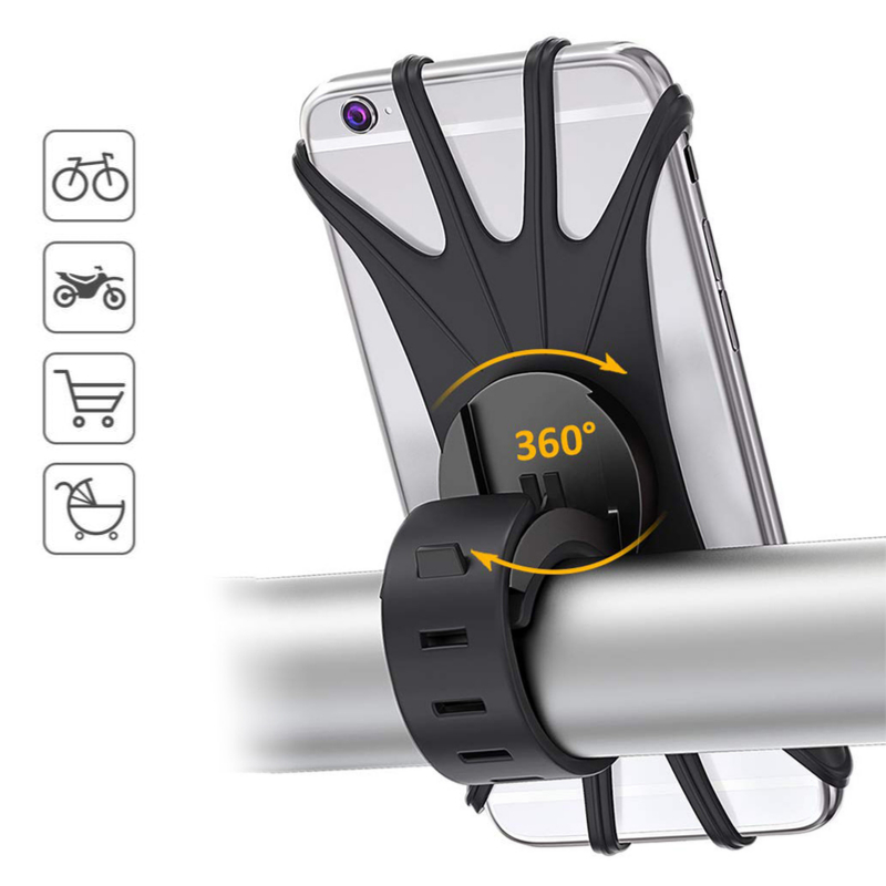 Universal Mountain Bike Mobile Phone Holder Silicone Motorcycle Bicycle Handlebar Cellphone Stand For iPhone Samsung Xiaomi