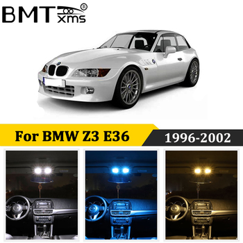BMTxms 8Pcs LED Car interior lights Canbus For BMW Z3 E36 Roadster Coupe Convertible (1996-2002) led Bulbs No Error image