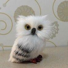 Милая сова, белая, черная пушистая Рождественская птица, украшение, украшение, имитация H2.75 дюймов для домашнего декора, подарок для детей