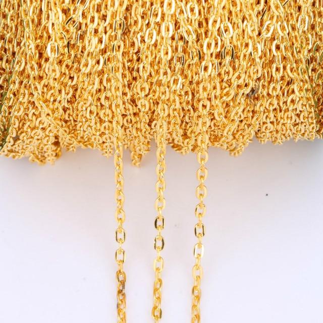 Sac à bijoux de 1 mètre, accessoires de bijouterie à fabriquer soi-même, chaîne plate, accessoires de bijouterie, vente en gros, lot en vrac