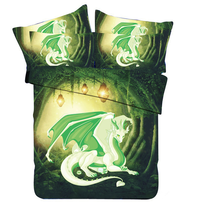 3D Digital Printing Large Version Of Dinosaur Europe And America Hot Sales Beddings Quilt Cover Three Four-piece Set
