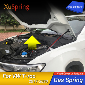 Image 1 - Para volkswagen vw T ROC 2017 2018 2019 2020 capa dianteira do carro motor capa hidráulica haste strut mola barra de choque suporte estilo do carro