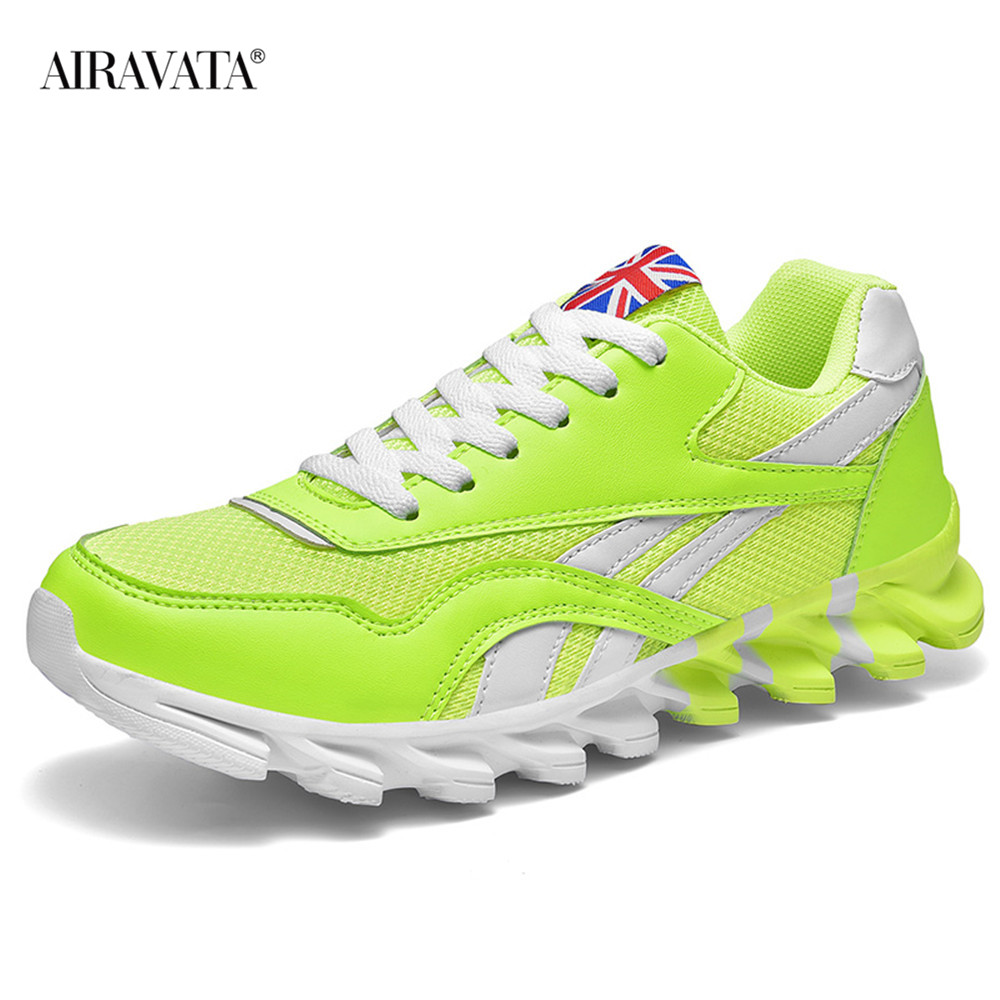 Green-Couples Sneakers Casual Breathable Comfortable Running Sport Shoes