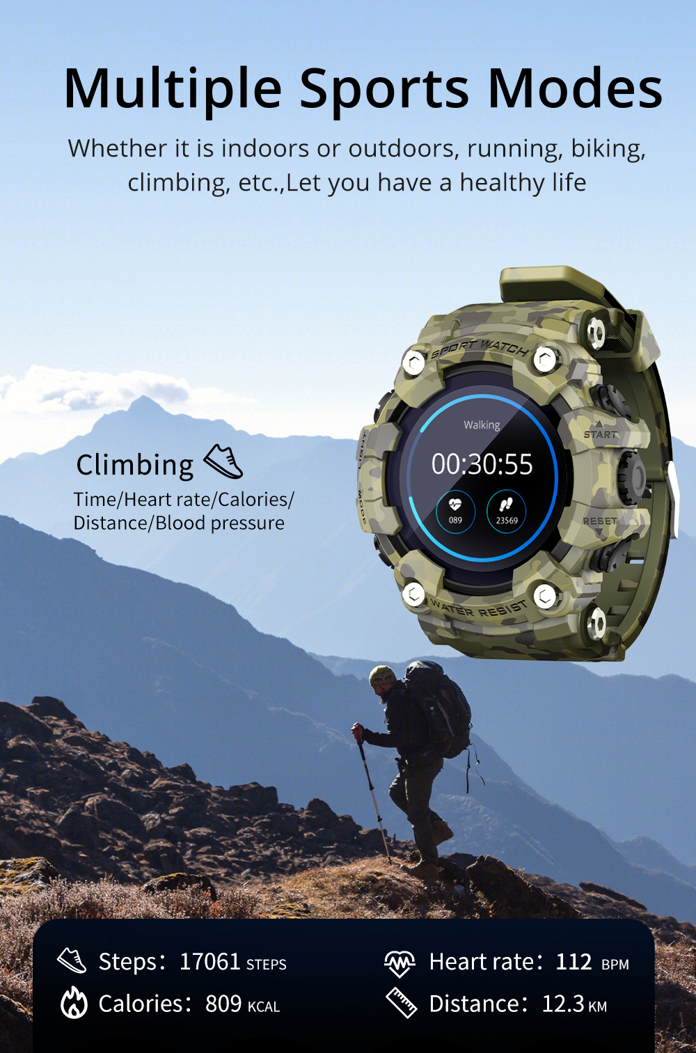 H4c6aa1c84e6447b8845d519d20b248c9L LOKMAT ATTACK Full Touch Screen Fitness Tracker Smart Watch Men Heart Rate Monitor Blood Pressure Smartwatch For Android iOS