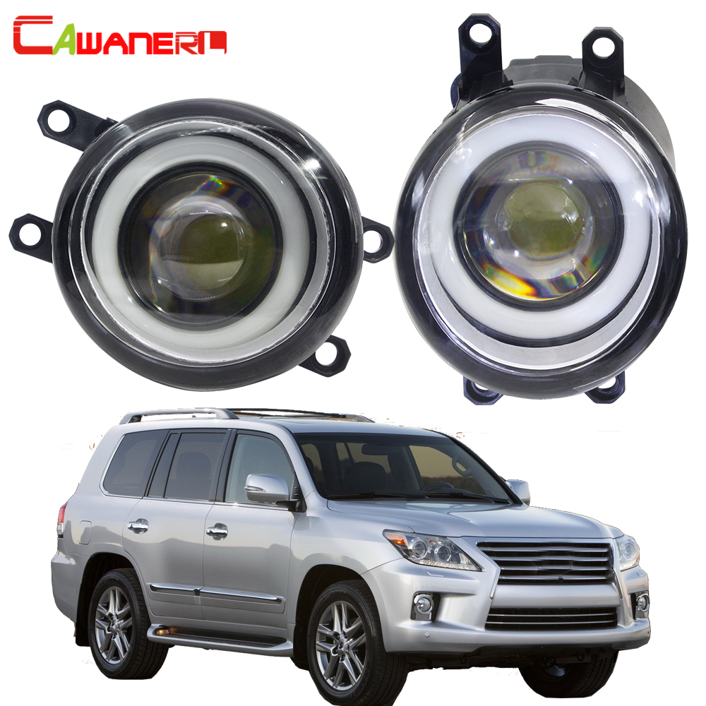 Cawanerl For <font><b>Lexus</b></font> <font><b>LX570</b></font> 2008 2009 2010 2011 Car 30W LED <font><b>Fog</b></font> <font><b>Light</b></font> Angel Eye Daytime Running Lamp DRL 3000LM White H11 12V image