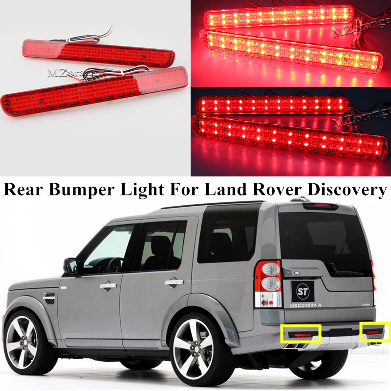 2 Pcs LED Hinten Reflektor Für Land Rover Discovery 3 4/LY021 2005-2013 Für Range Rover Sport 2010-2013 schwanz Stoßfänger Lampe Licht