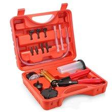 2in1 Hand Held DIY Brake Fluid Bleeder Tools Manual Vacuum Pump Tester Kit Auto Diagnostic-Tool Pressure Vacuum Gauge