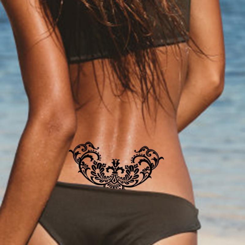 Popular Small Sexy Temporary Tattoo Sticker Women Body Finger DIY Art Painting Drawing Waterproof Tattoo Sticker