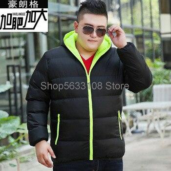 Fat Men's Wear Plus Fat Plus Size Cotton-padded Jacket Fat Man Leisure Youth Cotton-padded Jacket Super Large Size