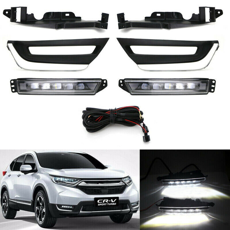1Pair DRL <font><b>Led</b></font> Daytime Running Light Bumper signal light Fog Lamp for <font><b>Honda</b></font> Cr-V <font><b>Crv</b></font> 2017 <font><b>2018</b></font> image