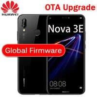 Huawei-teléfono inteligente P20 Lite con Firmware Global, NOVA 3E, identificación facial, pantalla de visión completa de 5,84 pulgadas, Android 8,0, cuerpo de cristal, cámara frontal de 24MP