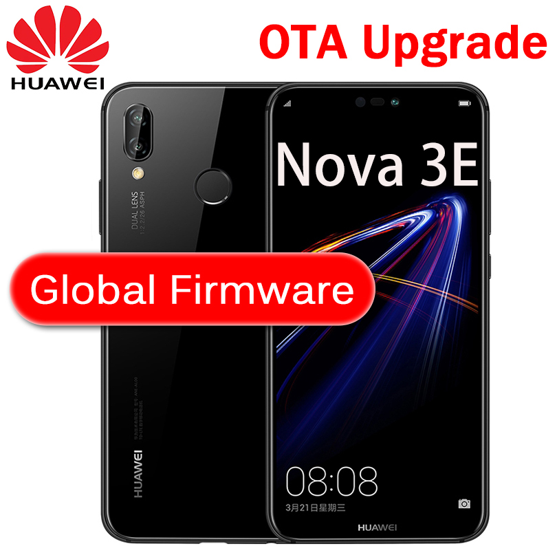 Huawei P20 Lite Global Firmware Nova 3E Smartphone Gezicht Id 5.84 Inch Full View Scherm Android 8.0 Glazen Lichaam 24MP front Camera
