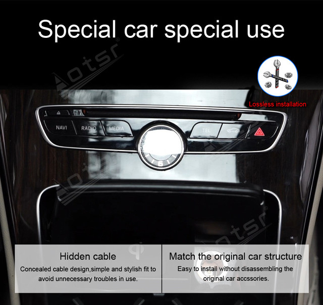 QI Wireless Charge Special On-board Charge Phone Charge Panel Android For Mercedes Benz C ser GLC 15-19 Pad Non-slip Accessories 3