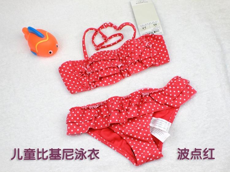 Ocean Fry Infant Swimming KID'S Swimwear Bikini Swimwear Girls' Two-piece Swimsuit
