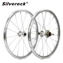 """طقم عجلات الدراجة 1 3 سرعة 16x1 3/8 """"349 kinlin nbr حافة ل 3 ستين برومبتون خفيفة للطي عجلات الدراجة 800g 16 H/20 H DIY"""