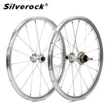 "Ruedas de bicicleta et 1 3 velocidades 16x1 3/8 ""349 Kinlin llanta de NB R 14H/21H para Brompton 3sixty, ruedas de bicicleta plegables ultralivianas 800g DIY"