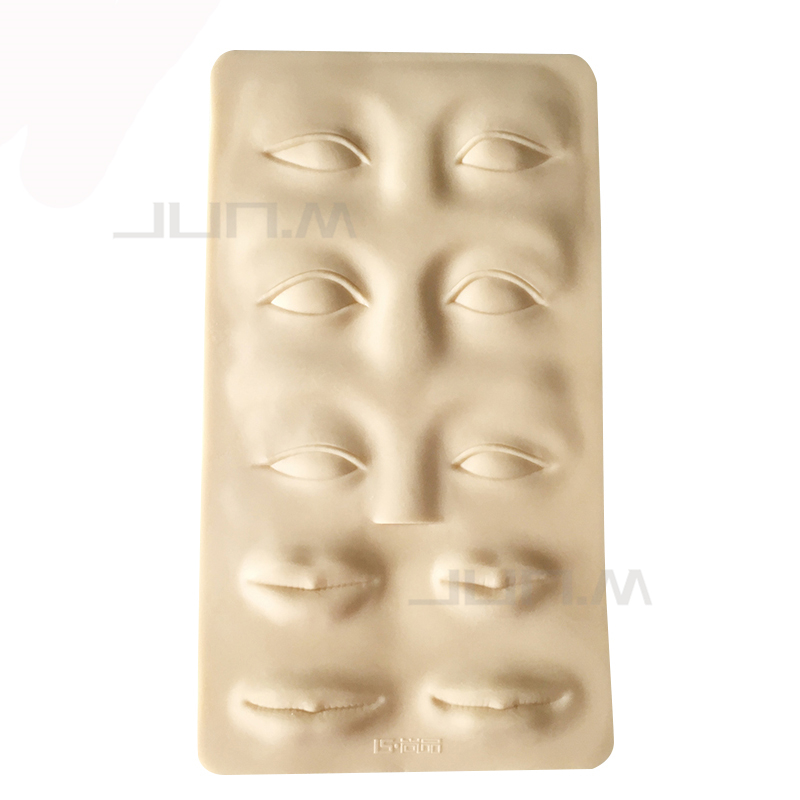 1Pc Tattoo 3D Practice Synthetic Skin Face 27 X 15cm Permanent Makeup Practice Skin Full Face Part For Beginners