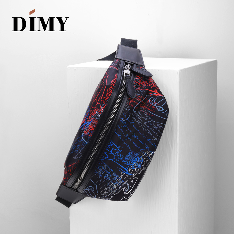 2019 DIMY Men's New Wave Wild Canvas Multi-function Compact Light Chest Bag Pocket