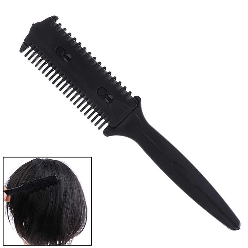 Pro Pemangkas Rambut Rambut Sisir Gunting Cukur Alat Poni Sikat Hairdressing Pemangkas Rambut Mencukur Blades Cutting Menipis Kecantikan Styling
