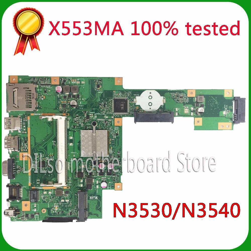 KEFU X553MA For ASUS X553MA X503m F553ma F553m Laptop Motherboard X553MA Mainboard REV2.0 N3530/N3540  Work 100%
