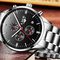 Новинка LIGE мужские часы Топ бренд класса люкс Секундомер спортивные водонепроницаемые кварцевые часы мужские модные бизнес часы relogio masculino