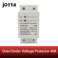 40A 230V Household Din rail automatic recovery reconnect over voltage and under voltage adjustable protective device protector