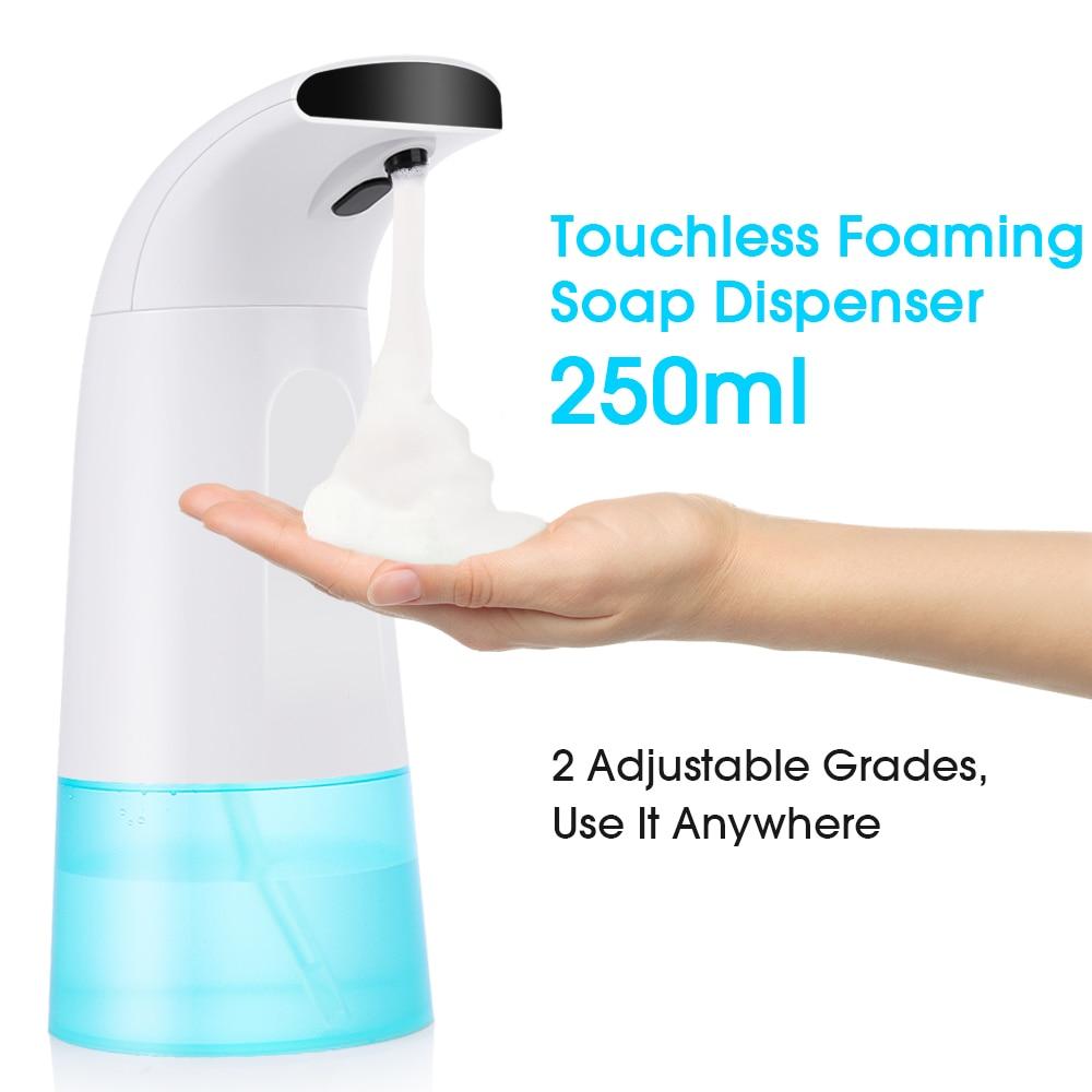 400Ml/250ml Automatic Liquid Soap Dispenser Automatic Foam Soap Dispenser Touchless IR Infrared Sanitizer Dispensador /250ML