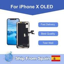 Elekworld-pantalla LCD OLED para iphone X, montaje de digitalizador táctil 3D, envío desde España