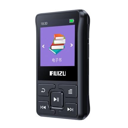 Оригинальный Bluetooth MP3 плеер RUIZU X55 X52, 8 ГБ, мини MP3 Поддержка FM, запись, электронная книга, часы, шагомер, музыкальный плеер