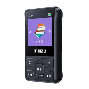 Image 1 - Original RUIZU X55 X52 Clip Sport Bluetooth MP3 Player 8gb Mini MP3 Support FM,Recording,E Book,Clock,Pedometer Music Player