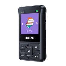 Original ruizu x55 x52 clipe esporte bluetooth mp3 player 8gb mini mp3 suporte fm, gravação, e book, relógio, pedômetro leitor de música