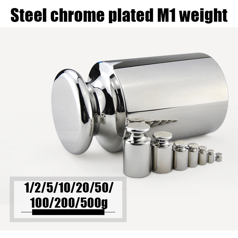Калибровочные весы M1 s, весы из нержавеющей стали, точные граммы, Весы s 1 г-500 г, калибровочные весы с хромовым покрытием и граммами