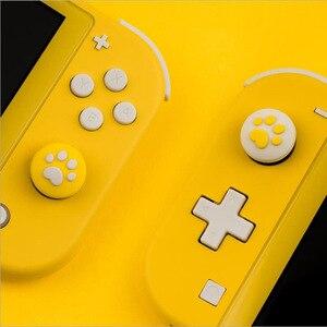 Image 5 - 4 adet sevimli kedi Paw pençe Thumb çubuk kavrama Cap Joystick kapak nintendo anahtarı Lite NS Joy Con denetleyici Gamepad Thumbstick kılıf
