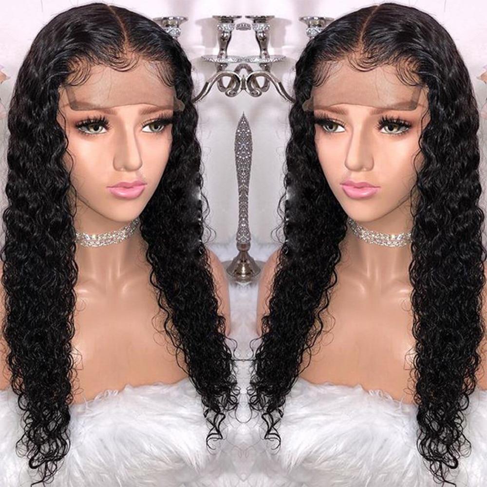 13x6  Water Wave Lace Front Human Hair Wigs For Black Women Brazilian Remy Human Hair 150 Density Eseewigs