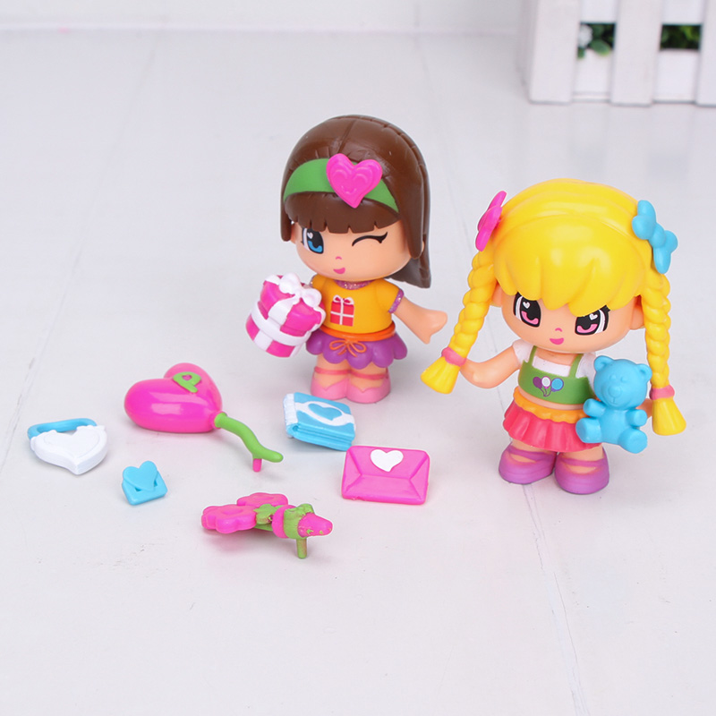 cute princess Pinypon dolls Detachable Kids doubleface Action Toy Figures Dolls-in Action & Toy Figures from Toys & Hobbies