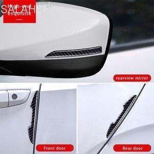 Image 5 - Koolstofvezel Auto Deur Anti Collision Bumper Strip Guards Side Protector Stickers Voor Peugeot 308 301 5008 408 307 206 207 Stijl