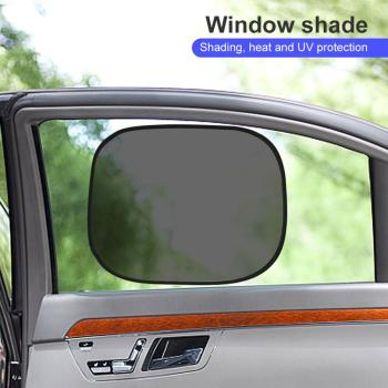 2PCS Car Sun Shade UV Protection Car Curtain Car Window Sunshade Side Window Mesh Sun Visor Summer Protection Window Film image