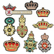 Clothing Accessories Modeling-Patch Badge Crown Wholesale Custom Sticker British-Style