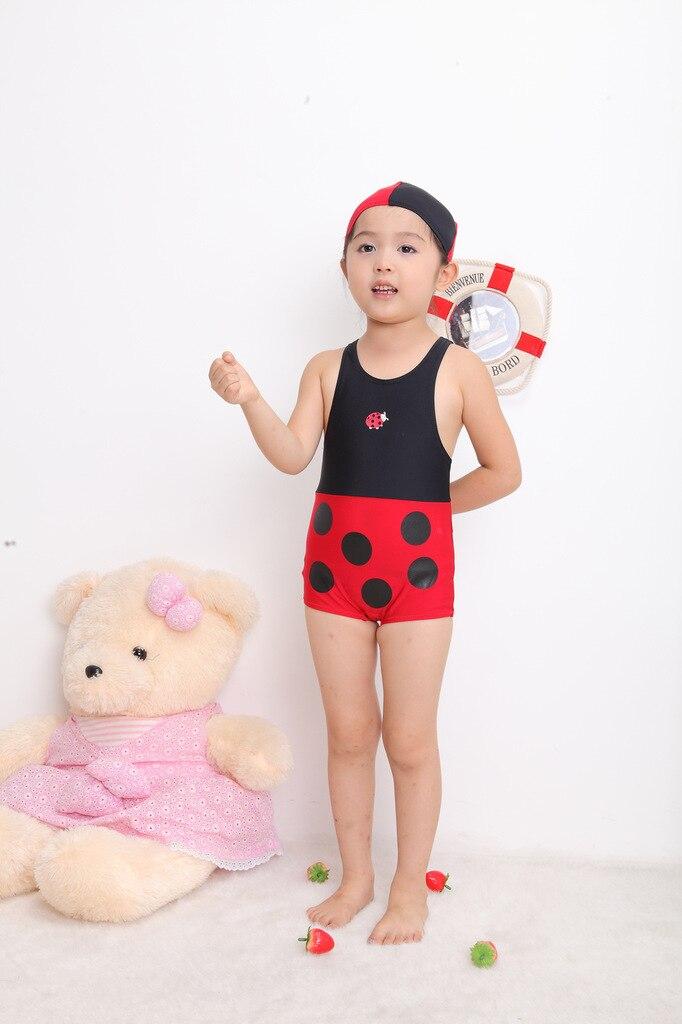 Boys' Cotton One-piece Swimsuit Ladybug-One-piece Swimsuit For Children