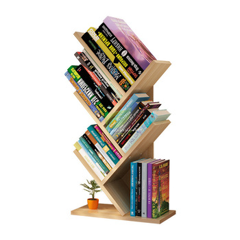 Simple modern space space bookshelf simple table student bookcase floor multi layer creative rack tree