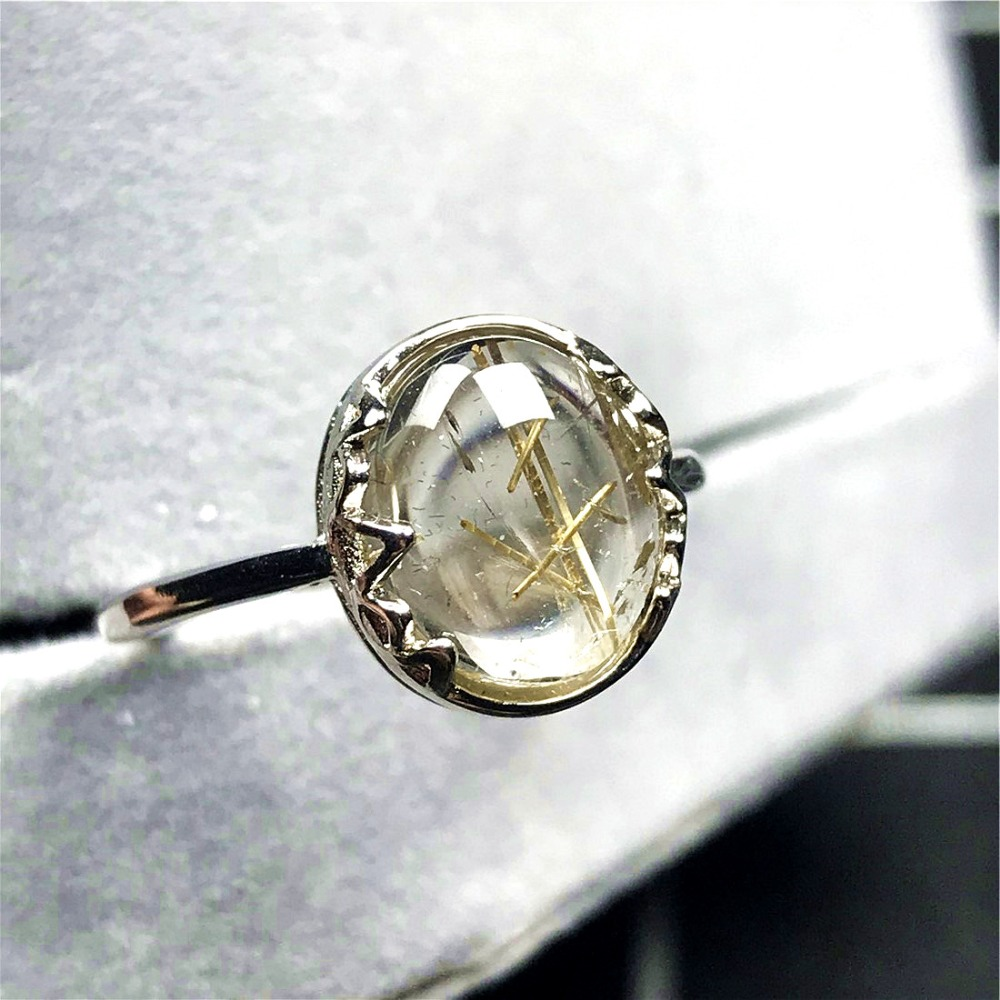 Gold Rutilated Ring (54)