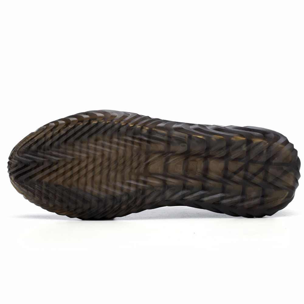 Queda do navio ao ar livre dos homens de verão respirável aço toe anti quebra sapatos de segurança proteção homens à prova punctura baixo trabalho sapatos botas