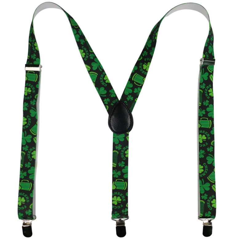 Four Leaves Clover Suspenders New 100*2.5CM Adjustable Men Women Fashion Adult High Quality Comfortable Accessories Suspenders