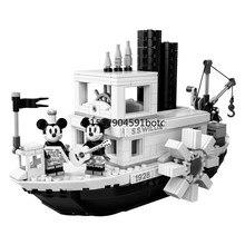 2019 novas ideias steamboat willie filme lepining 21317 blocos de construção tijolos brinquedos para crianças presentes modelo crianças presente natal